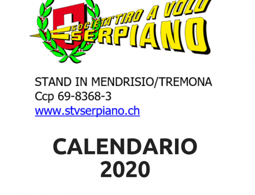 Riapertura Calendario 2020